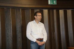 Michael Baumann, Bürgermeister Hösbach beim Grußwort, BIld: Roland Leitz